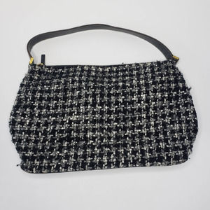 Kate Spade New York Tweed Houndstooth Black Purse